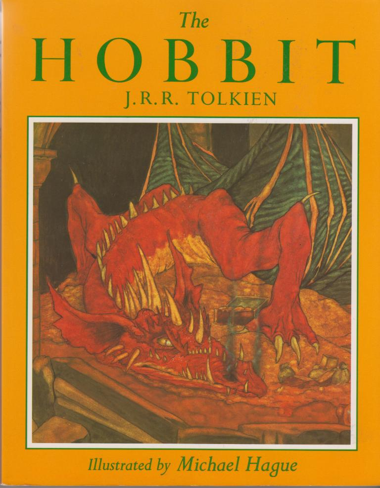 Illustrated Book Cover ~ The hobbit ill michael hague hb hobbithunter