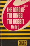The Lord of the Rongs, The Hobbit NOTES – HB 3320
